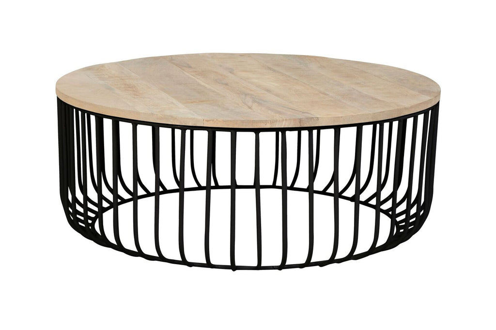 Flinders Slat Coffee Table - Black