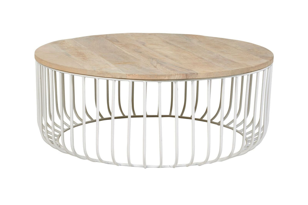 Flinders Slat Coffee Table - White