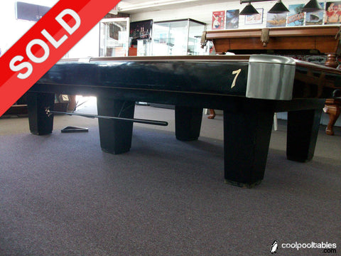 Used 1950's Model 10' Brunswick Snooker Pool Table