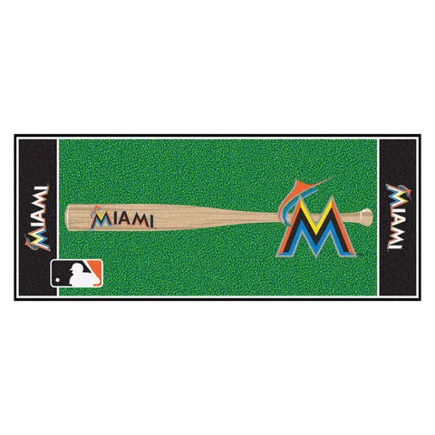 Miami Marlins Baseball Runner