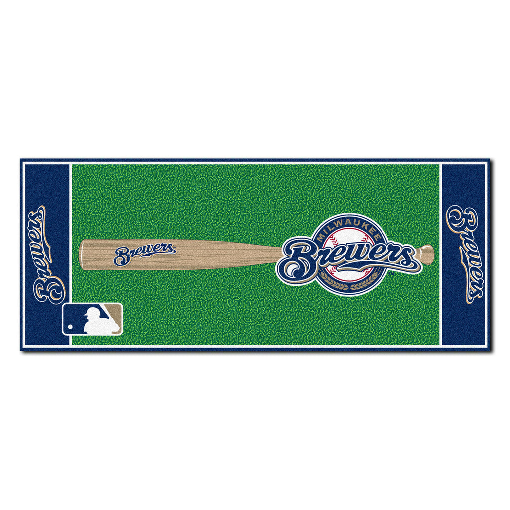 Milwaukee Brewers Baseball Runner