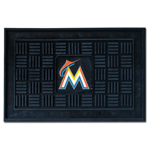 Miami Marlins Medallion Door Mat