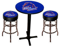 Boise State Broncos Varsity Pub Table & Bar Stool Set