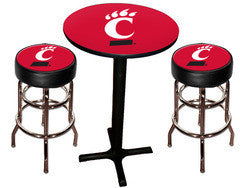 Cincinatti Bearcats Varsity Pub Table & Bar Stool Set