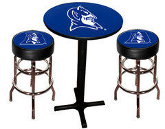 Duke Blue Devils Varsity Pub Table & Bar Stool Set