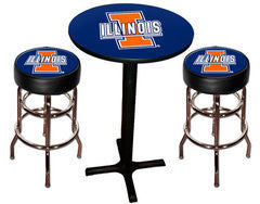 Illinois Fighting Illini Varsity Pub Table & Bar Stool Set