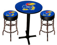 Kansas Jayhawks Varsity Pub Table & Bar Stool Set