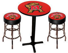 Maryland Terrapins Varsity Pub Table & Bar Stool Set