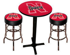 Nebraska Cornhuskers Varsity Pub Table & Bar Stool Set