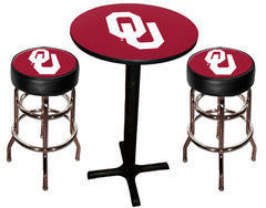 Oklahoma Sooners Varsity Pub Table & Bar Stool Set
