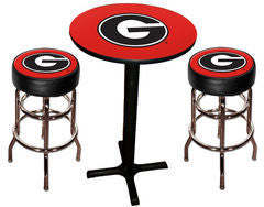 UGA Bulldogs Varsity Pub Table & Bar Stool Set