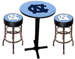 UNC Tar Heels Varsity Pub Table & Bar Stool Set