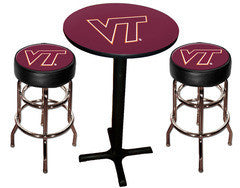 Virginia Tech Hokies Varsity Pub Table & Bar Stool Set