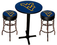 WVU Mountaineers Varsity Pub Table & Bar Stool Set