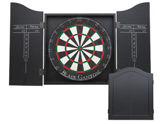 Black Dart Board Cabinet