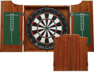 Honey Dartboard Cabinet
