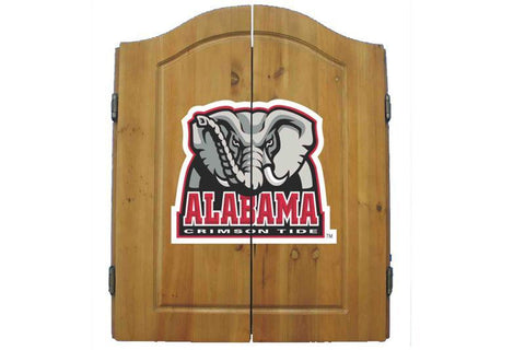Alabama Crimson Tide Dartboard Cabinet Set