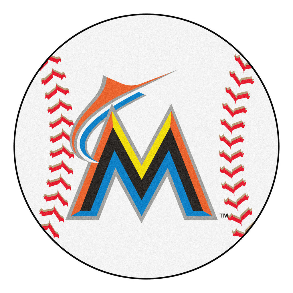 Miami Marlins Baseball Mat