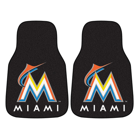 Miami Marlins 2-pc Carpet Car Mat Set