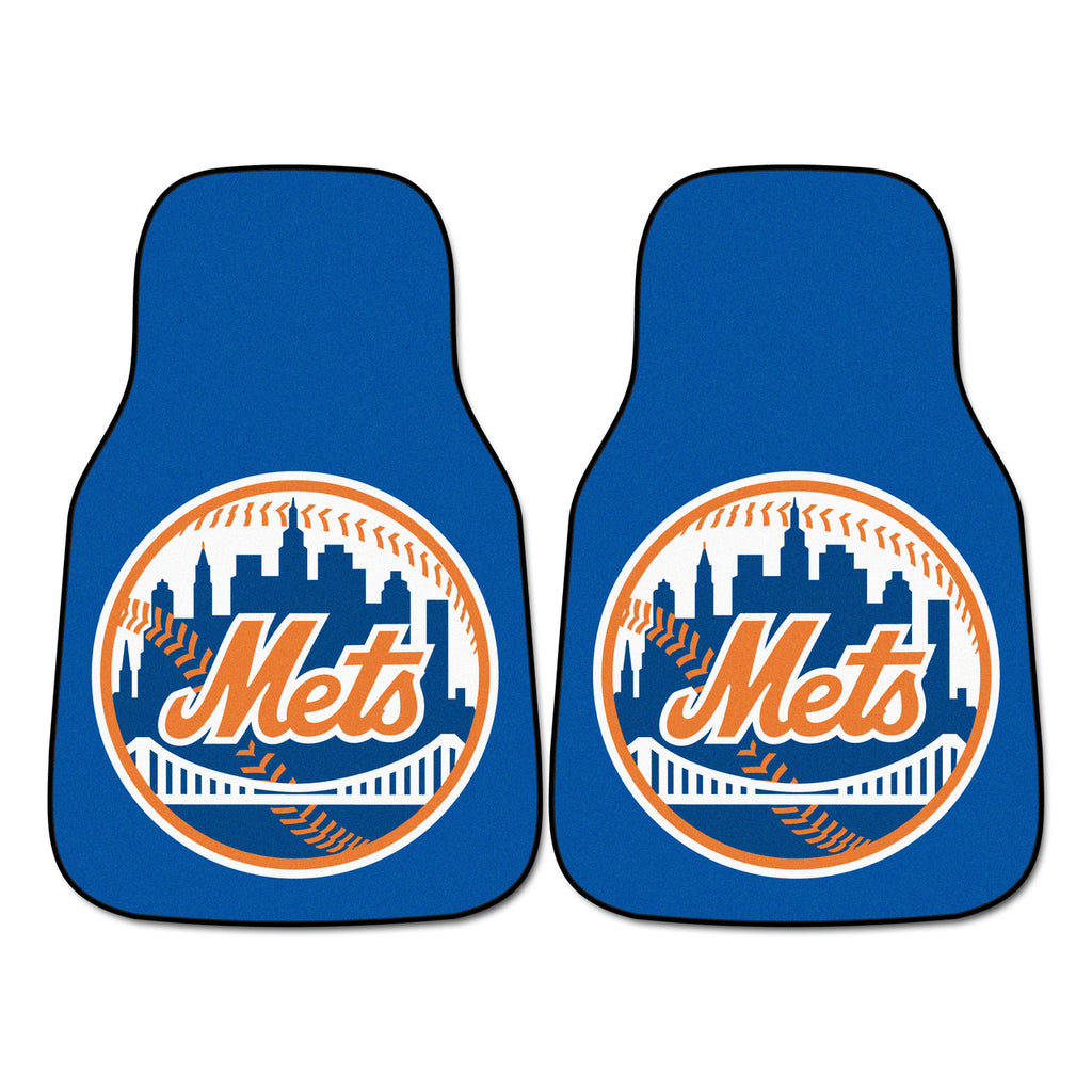 New York Mets 2-pc Carpet Car Mat Set