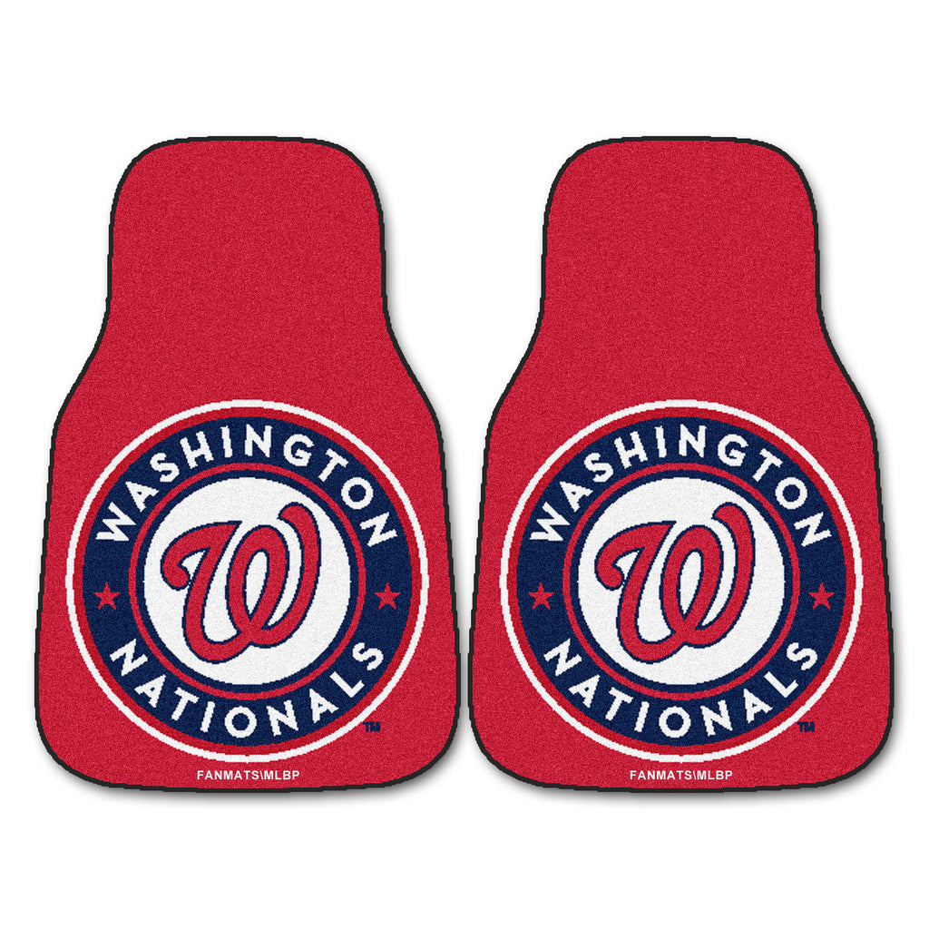 Washington Nationals 2-pc Carpet Car Mat Set