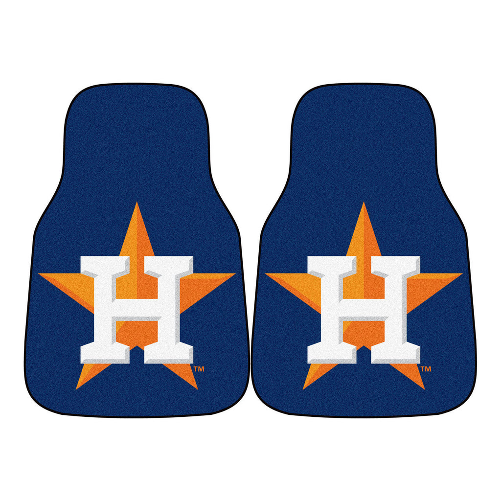 Houston Astros 2-pc Carpet Car Mat Set