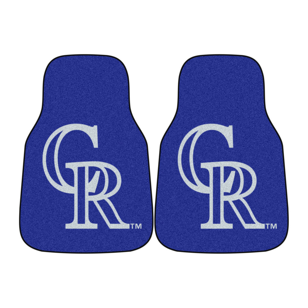 Colorado Rockies 2-pc Carpet Car Mat Set