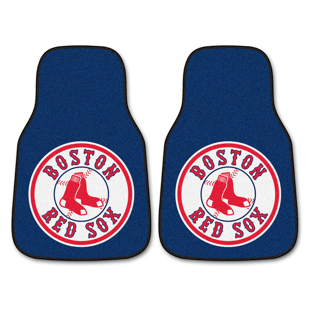 Boston Red Sox 2-pc Carpet Car Mat Set