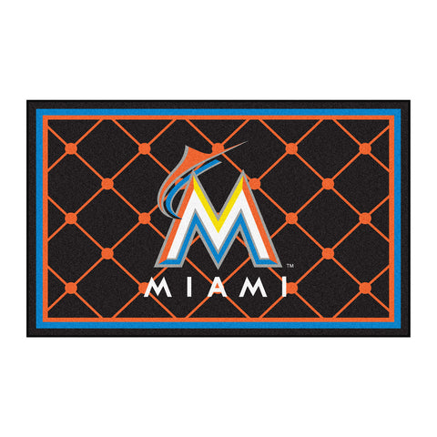 Miami Marlins 4x6 Rug