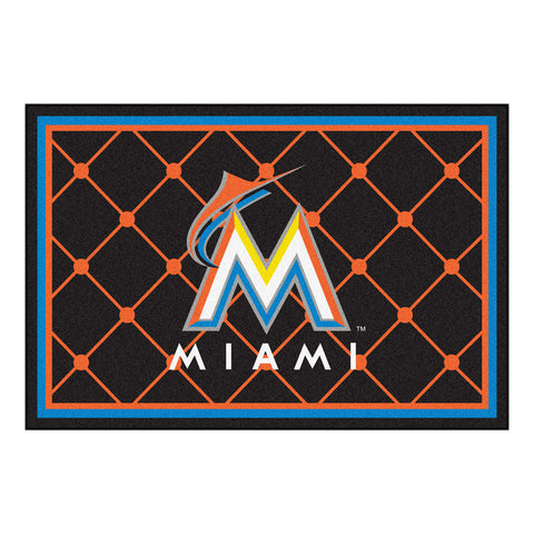 Miami Marlins 5x8 Rug