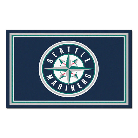 Seattle Mariners 4x6 Rug