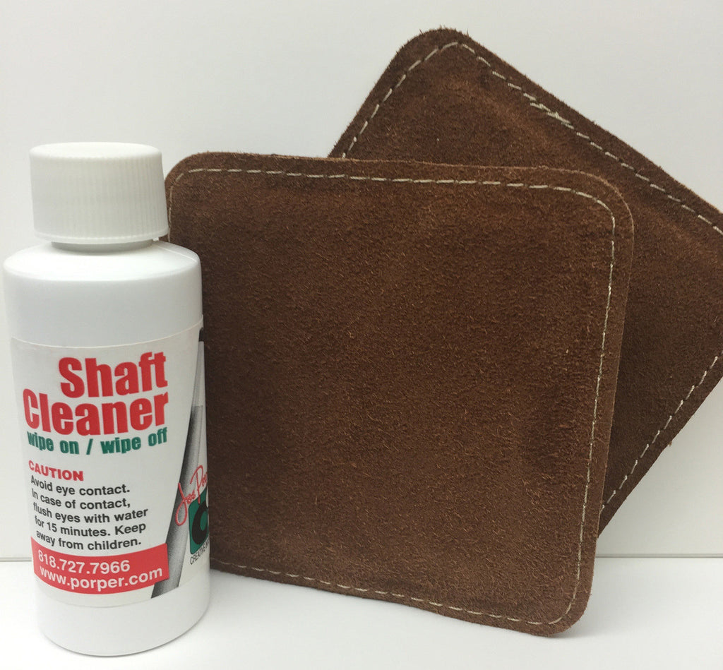 Porper Shaft Cleaner/Polish with 2 Polisher Pads