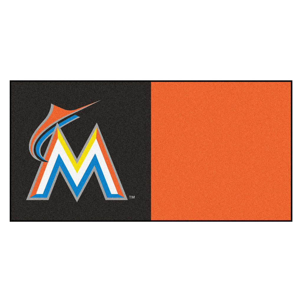 Miami Marlins Team Carpet Tiles