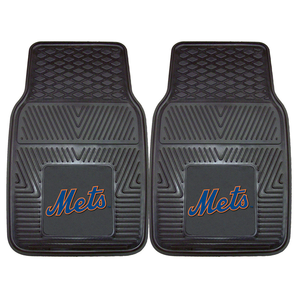 New York Mets 2-pc Vinyl Car Mat Set