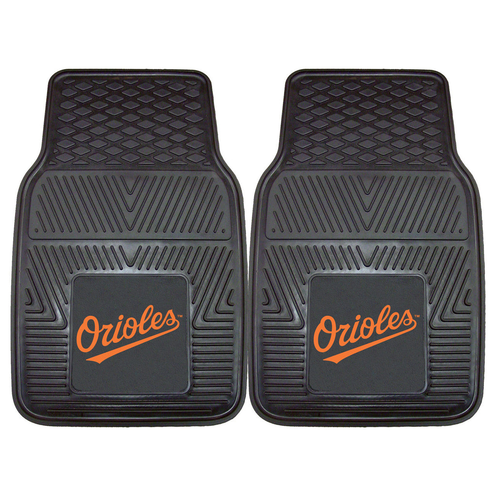 Baltimore Orioles 2-pc Vinyl Car Mat Set