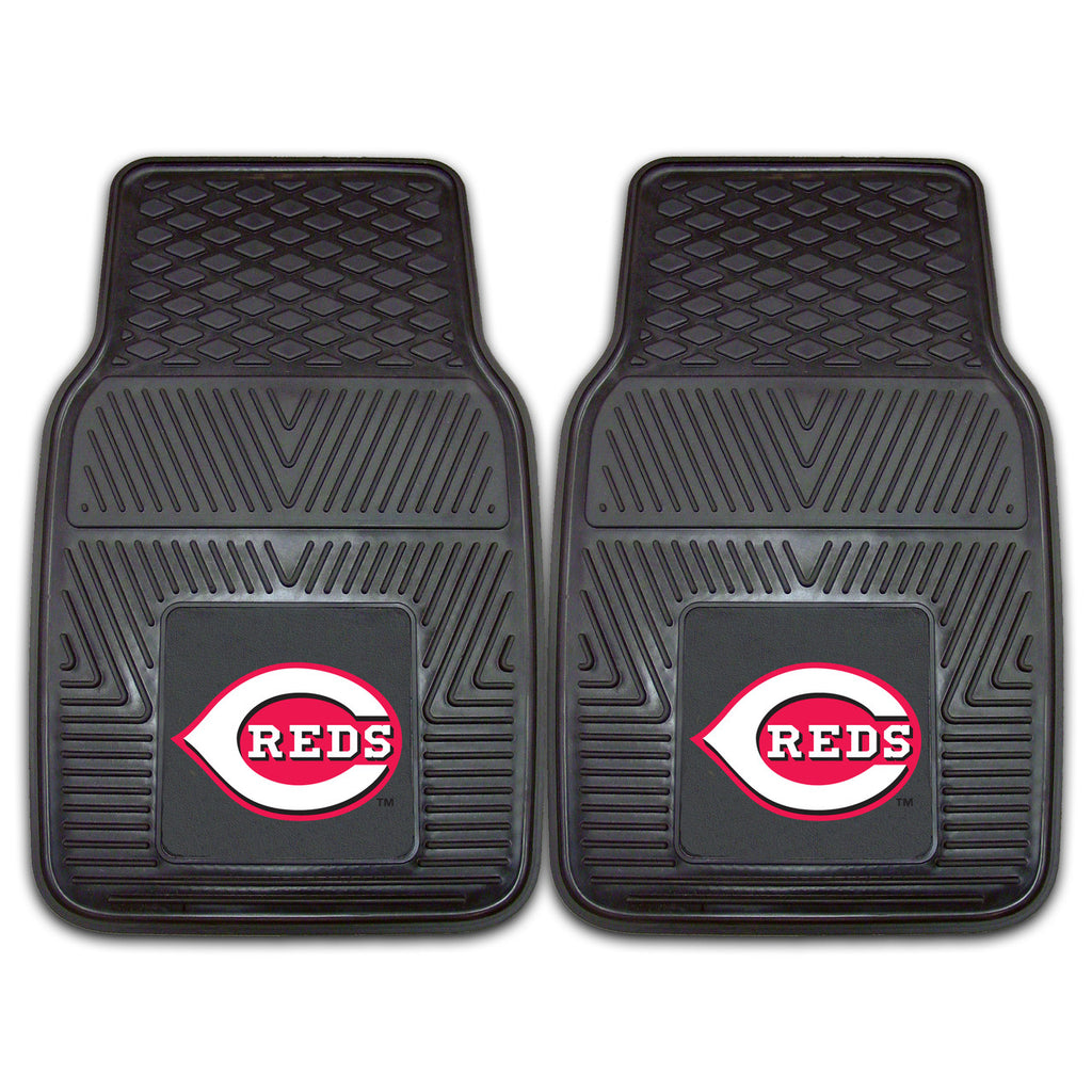 Cincinnati Reds 2-pc Vinyl Car Mat Set