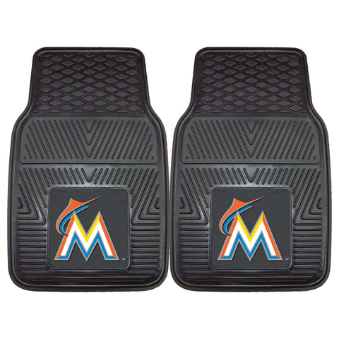 Miami Marlins 2-pc Vinyl Car Mat Set