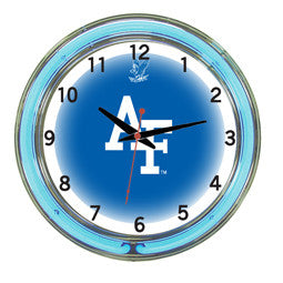 "Air Force Falcons 18"" Neon Clock"
