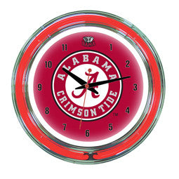 "Alabama Crimson Tide 14"" Neon Clock"