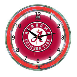"Alabama Crimson Tide 18"" Neon Clock"