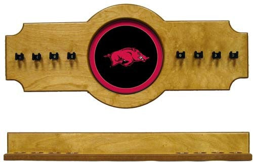 Arkansas Razorbacks 2-Piece Hanging Cue Rack