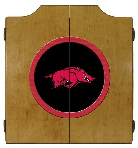 Arkansas Razorbacks Dartboard Cabinet