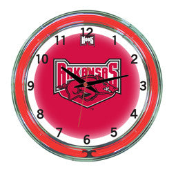 "Arkansas Razorbacks 18"" Neon Clock"