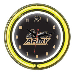 "Army Black Knights 14"" Neon Clock"