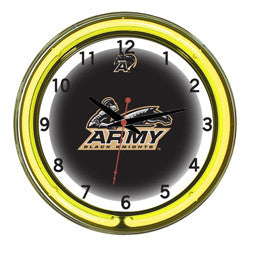 "Army Black Knights 18"" Neon Clock"