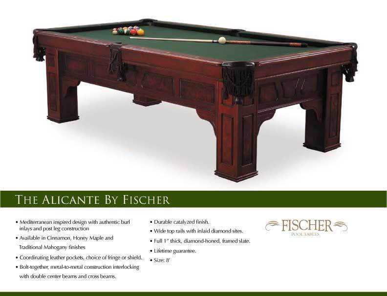 Fischer Alicante Pool Table