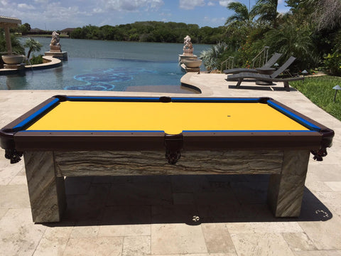 All Weather Artisan Outdoor Pool Table - coolpooltables.com