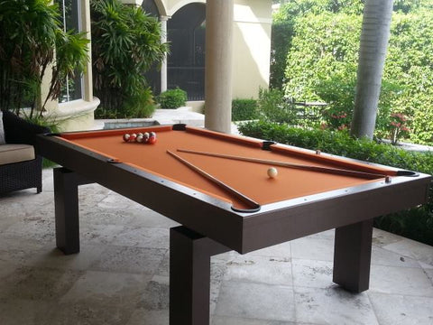 All Weather South Beach Outdoor Pool Table - coolpooltables.com