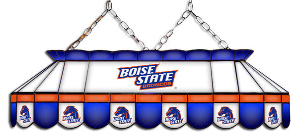 Boise State Broncos Stained Glass Pool Table Light