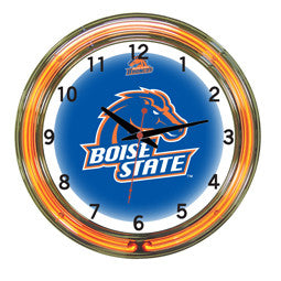 "Boise State Broncos 18"" Neon Clock"